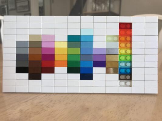 Palette cromatica Lego